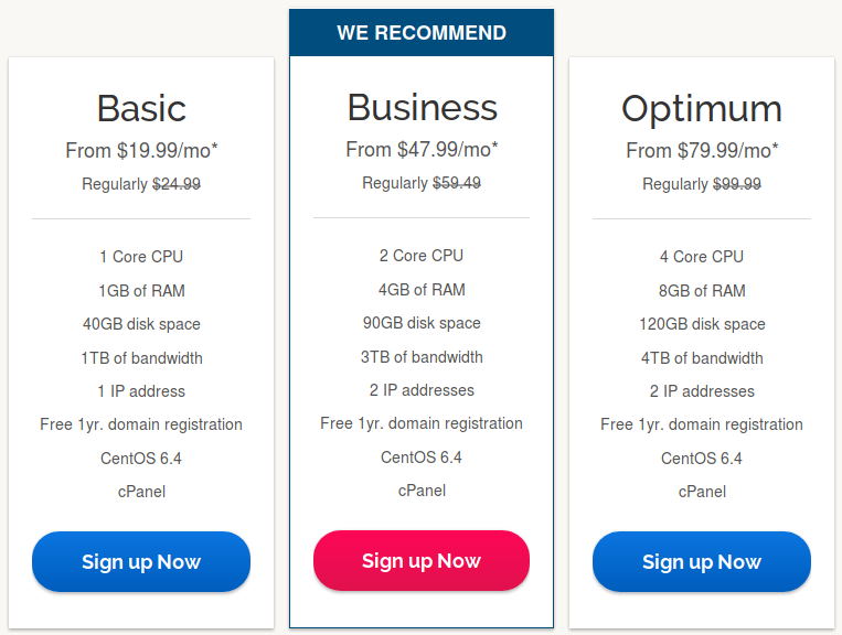 ipage VPS pricing